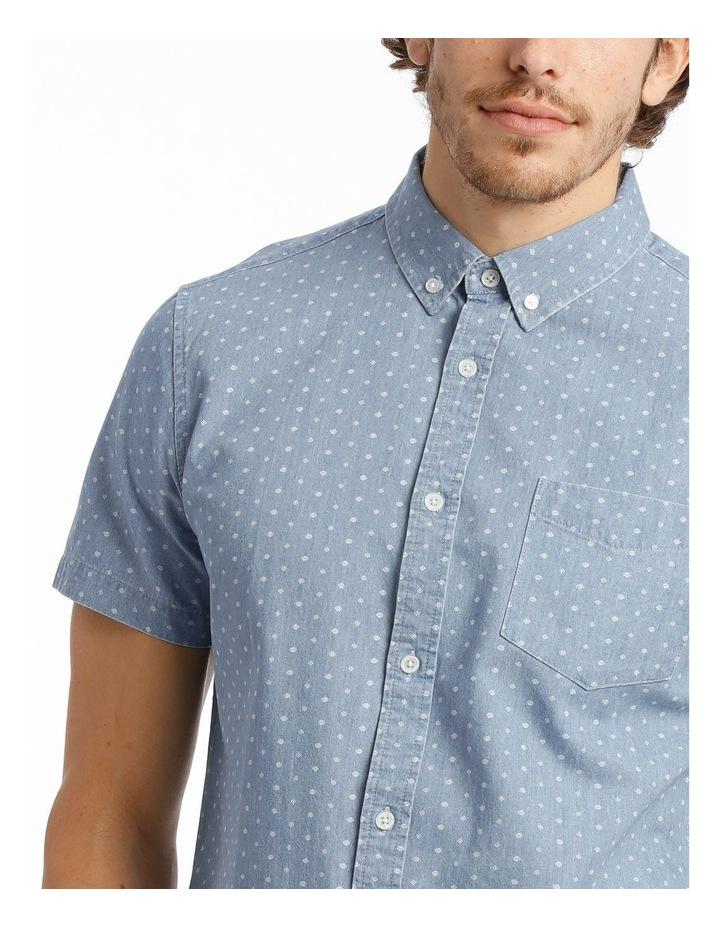 Hang Out Chambray Print Short Sleeve Shirt image 4