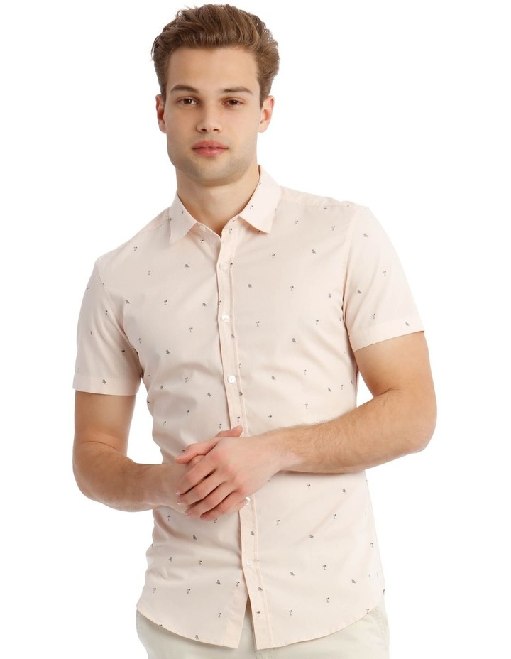 French Twist Convo Print Short Sleeve Shirt image 1