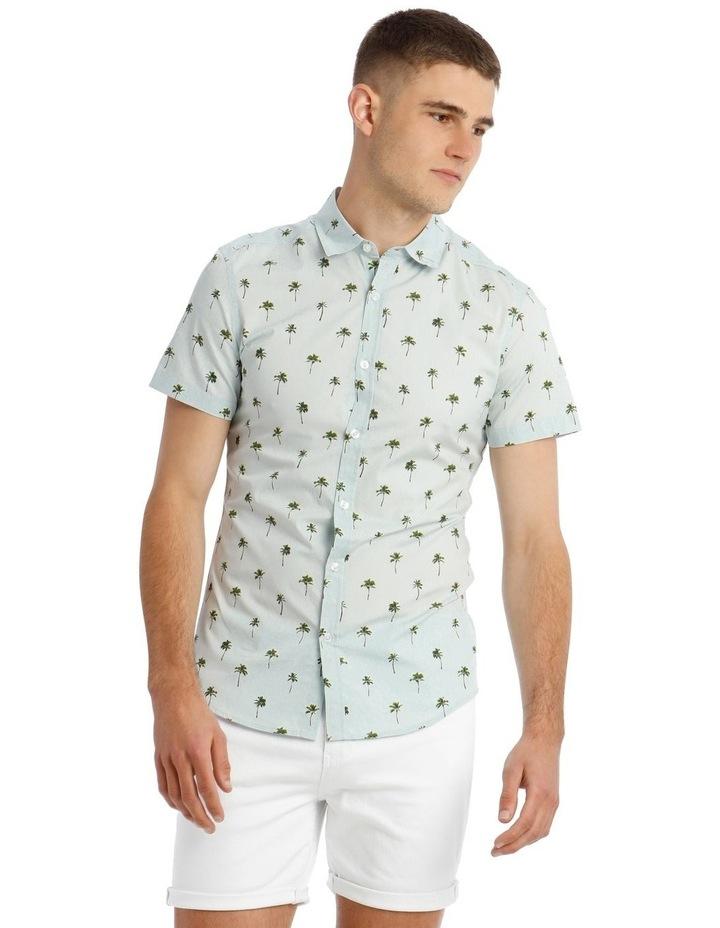 Smugglers Blue Convo Print Short Sleeve Shirt image 1
