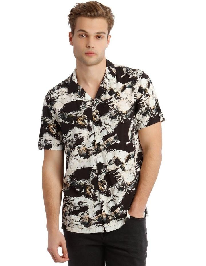 Ziggy Print Short Sleeve Rayon Shirt image 1