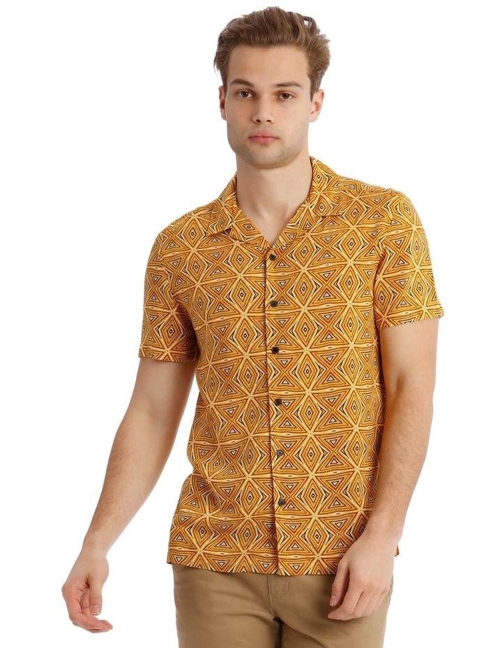 Tabaqui Print Short-Sleeve Rayon Shirt image 1