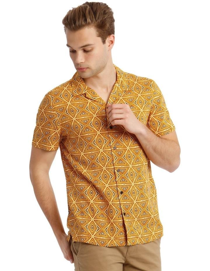 Tabaqui Print Short-Sleeve Rayon Shirt image 2
