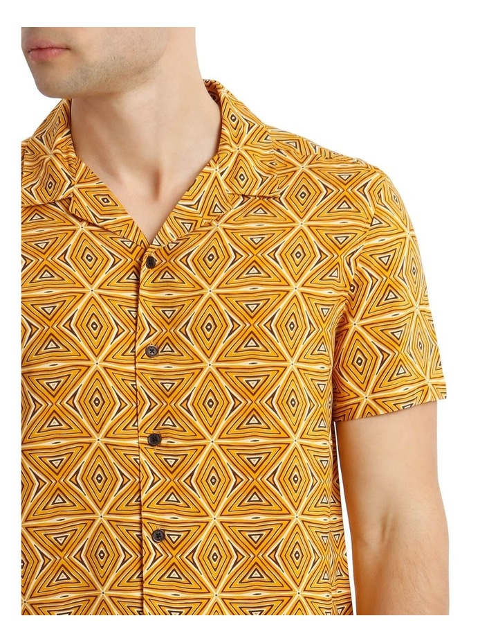 Tabaqui Print Short-Sleeve Rayon Shirt image 4
