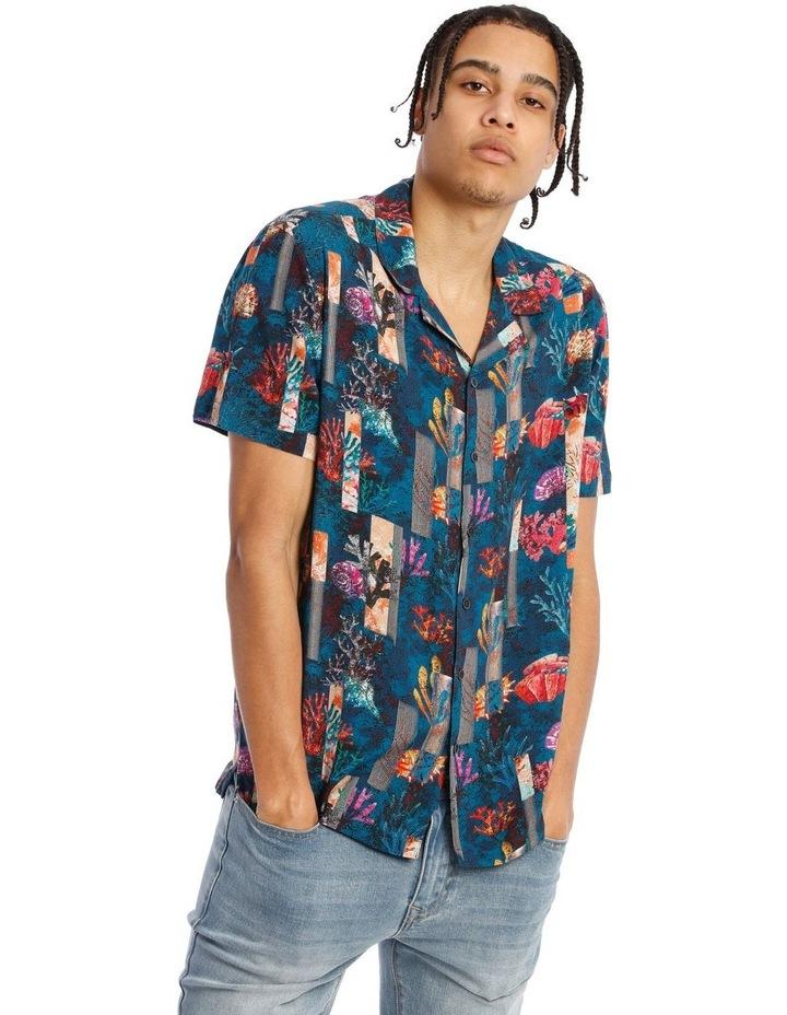 Monarch All Over Print Short Sleeve Rayon Shirt image 1