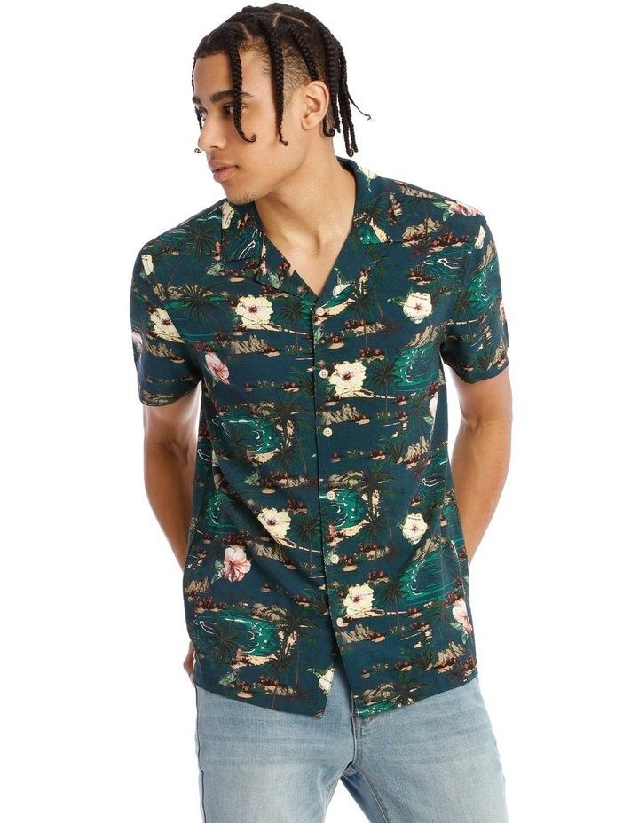 Java All Over Print Short Sleeve Rayon Shirt image 1
