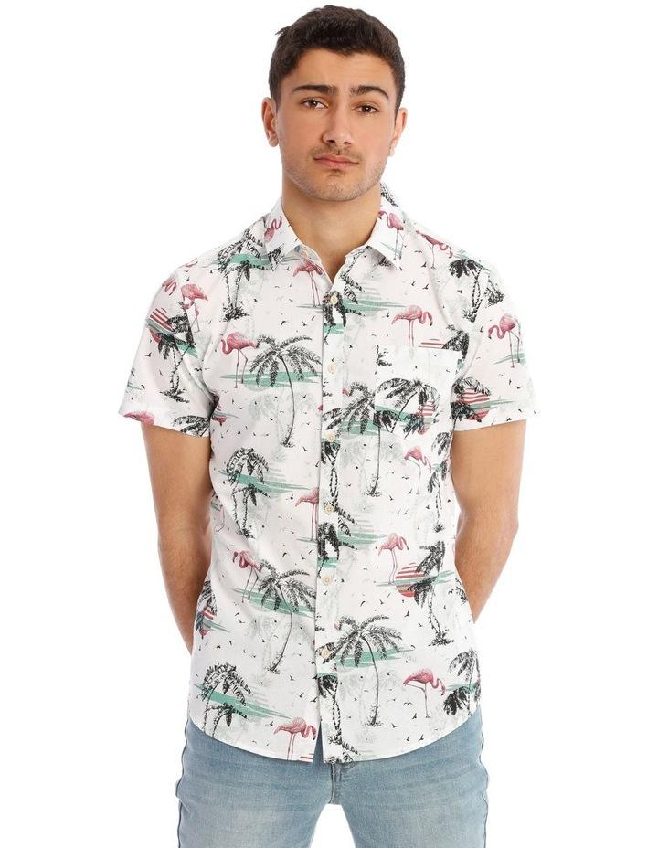 Flamingo Park Reverse Print Short Sleeve Shirt image 1