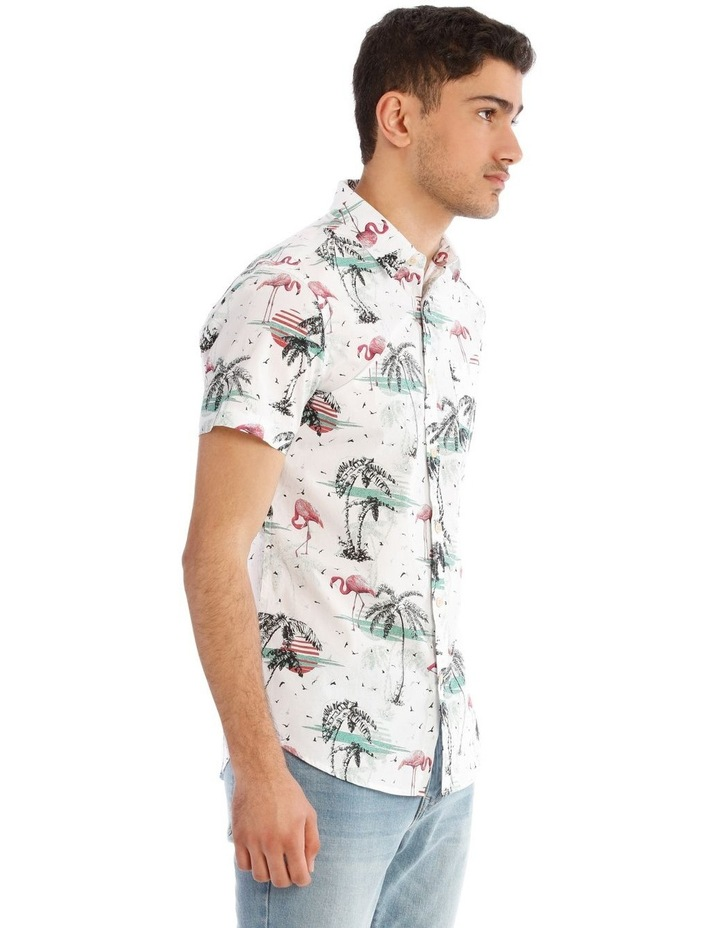Flamingo Park Reverse Print Short Sleeve Shirt image 2