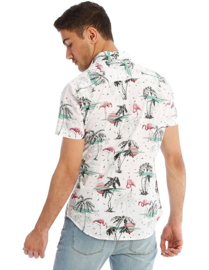 Flamingo Park Reverse Print Short Sleeve Shirt image 3