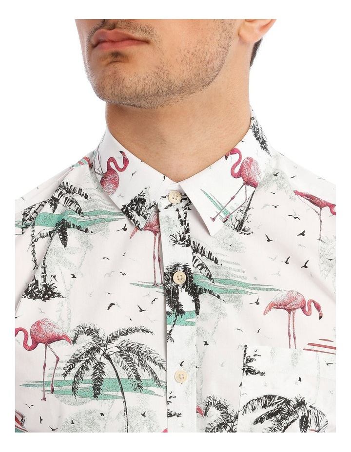 Flamingo Park Reverse Print Short Sleeve Shirt image 4