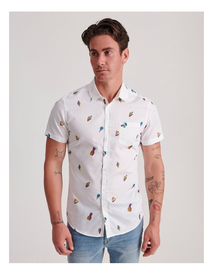 Glasswing Convo Print Short Sleeve Shirt image 1