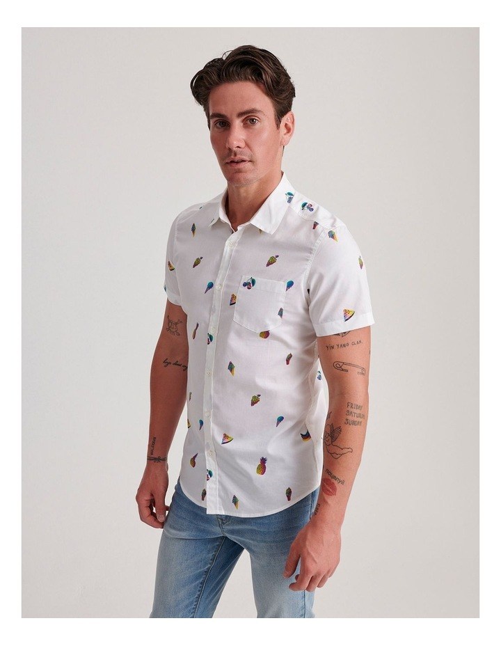 Glasswing Convo Print Short Sleeve Shirt image 3