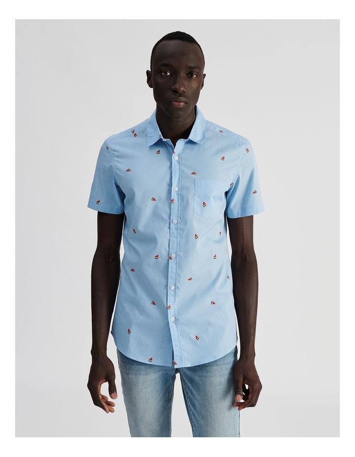 Citron Convo Print Short Sleeve Shirt image 1