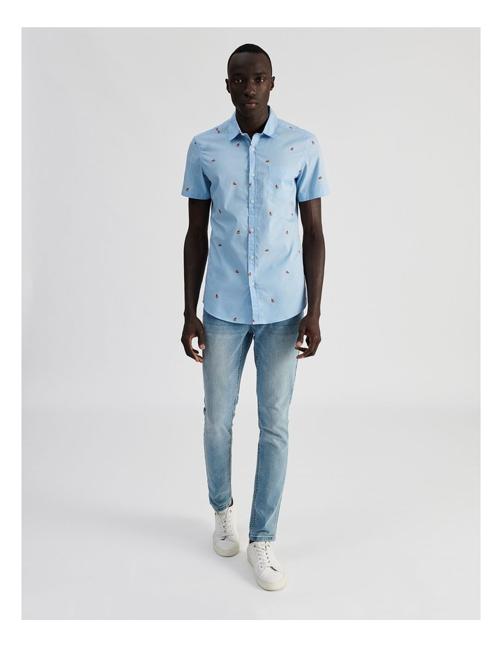 Citron Convo Print Short Sleeve Shirt image 2