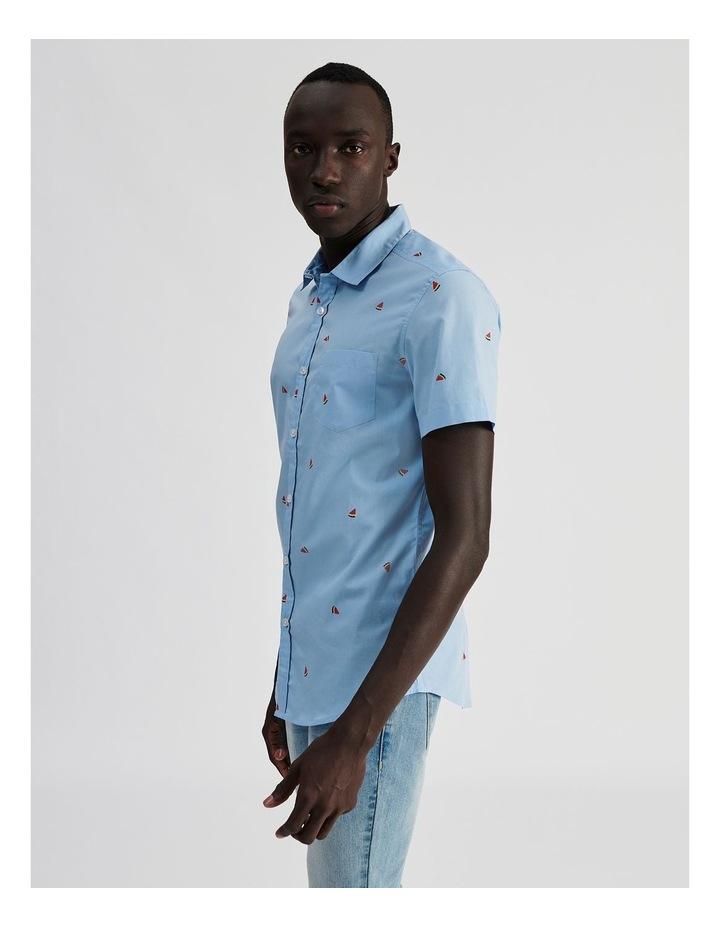 Citron Convo Print Short Sleeve Shirt image 3