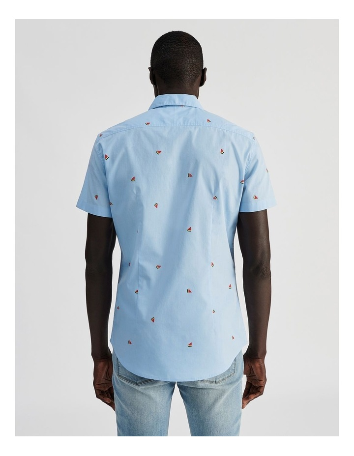 Citron Convo Print Short Sleeve Shirt image 4