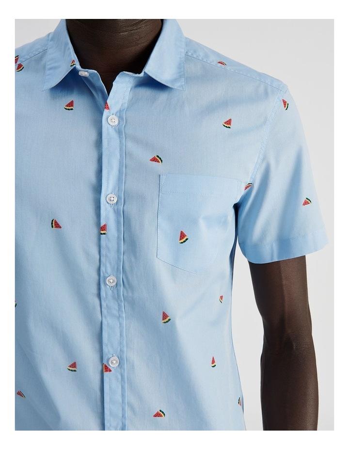 Citron Convo Print Short Sleeve Shirt image 5