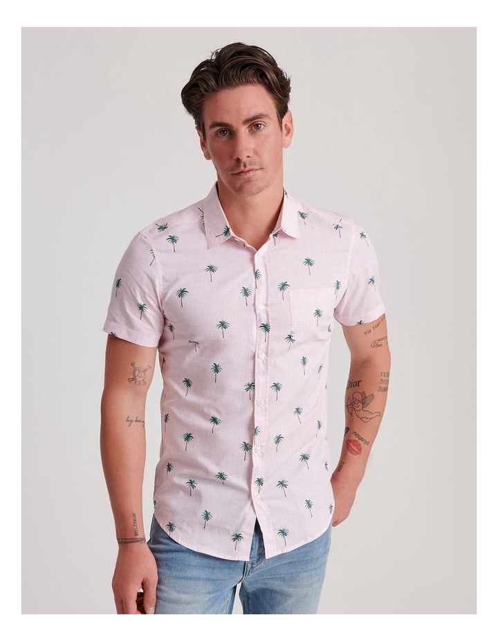 Tropical Wave Convo Print Short Sleeve Shirt image 1