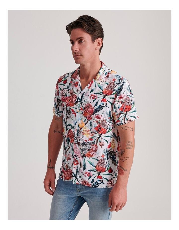 Aussie Xmas Print Short Sleeve Rayon Shirt image 3