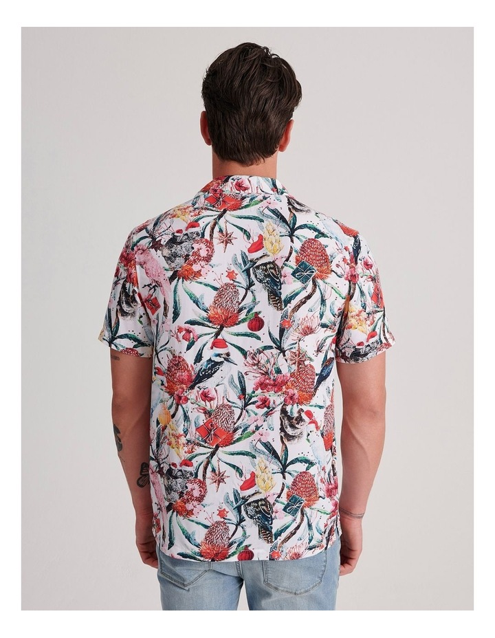 Aussie Xmas Print Short Sleeve Rayon Shirt image 4