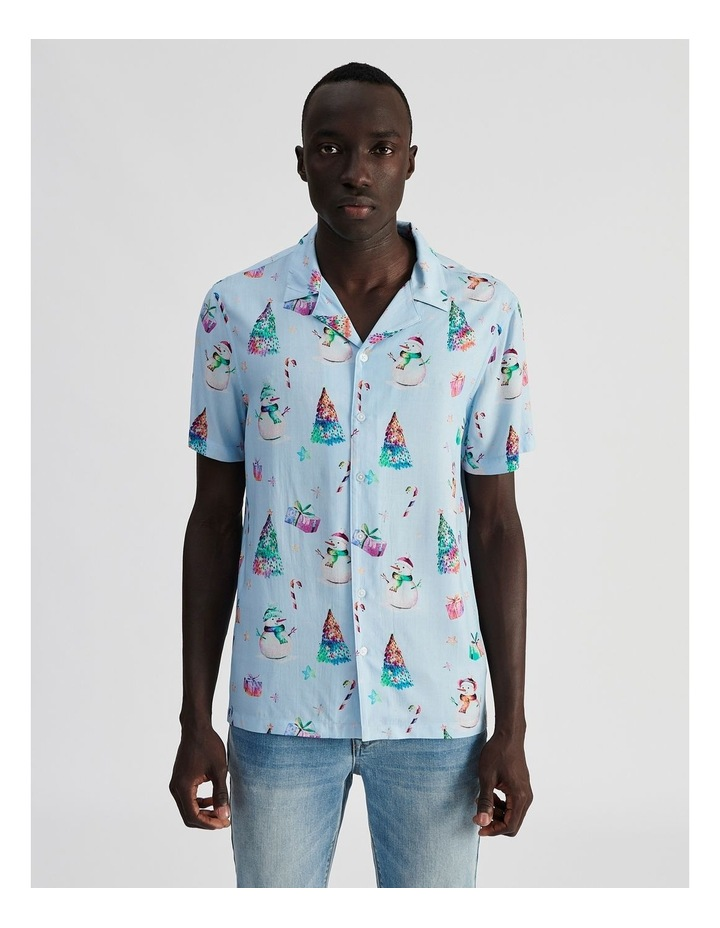 Jack Frost All Over Print Short Sleeve Rayon Shirt image 1