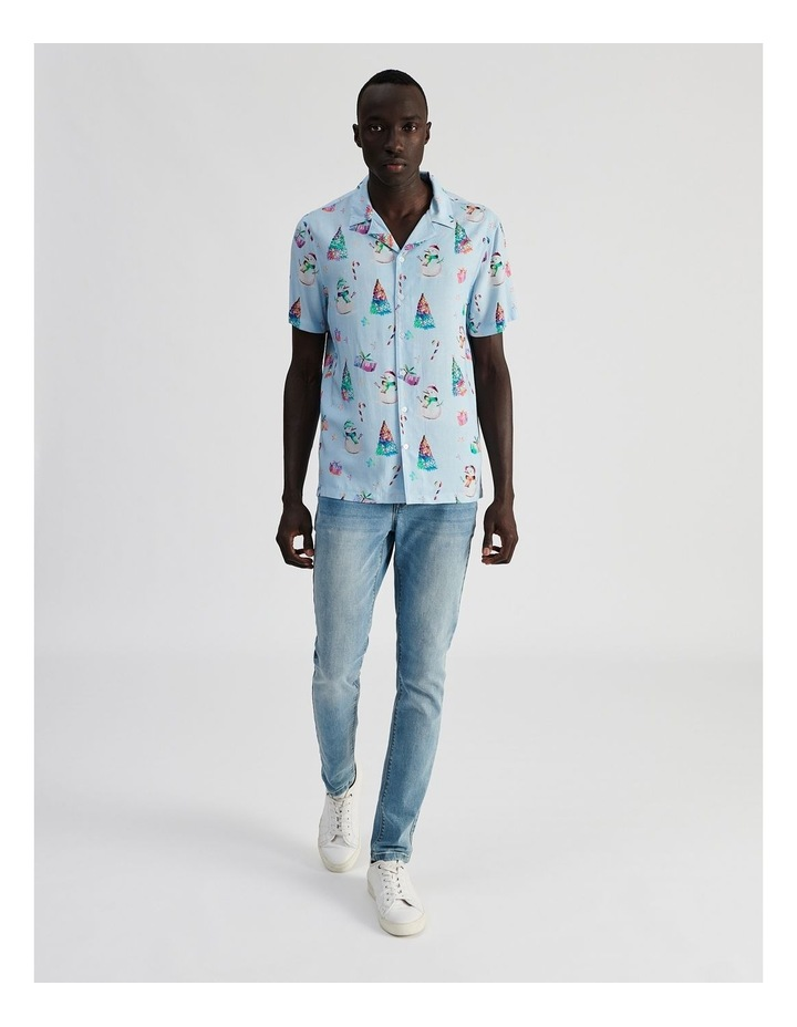 Jack Frost All Over Print Short Sleeve Rayon Shirt image 2