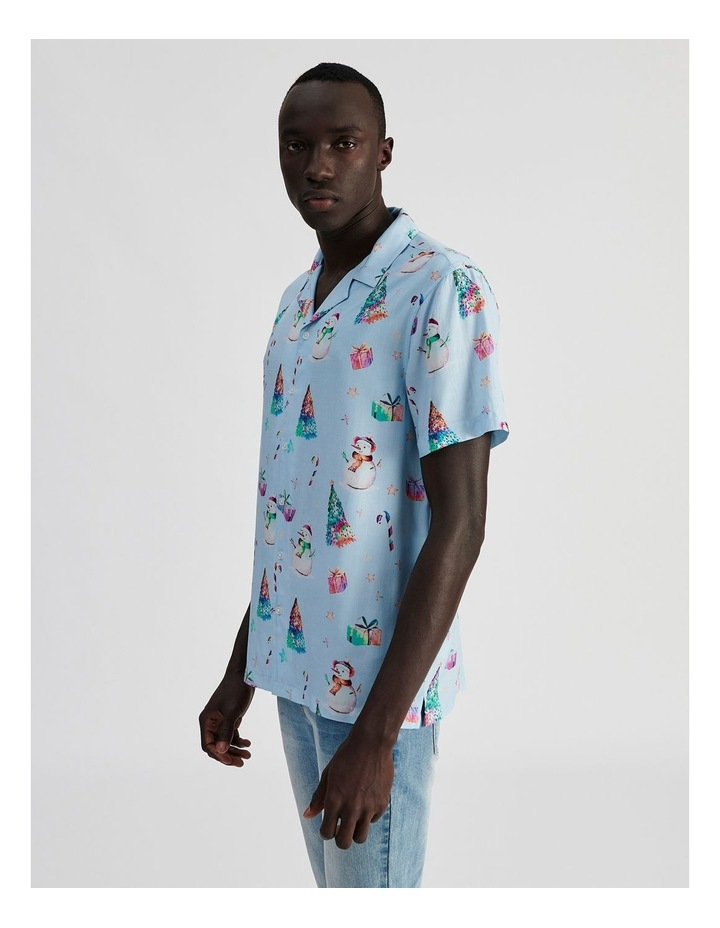Jack Frost All Over Print Short Sleeve Rayon Shirt image 3