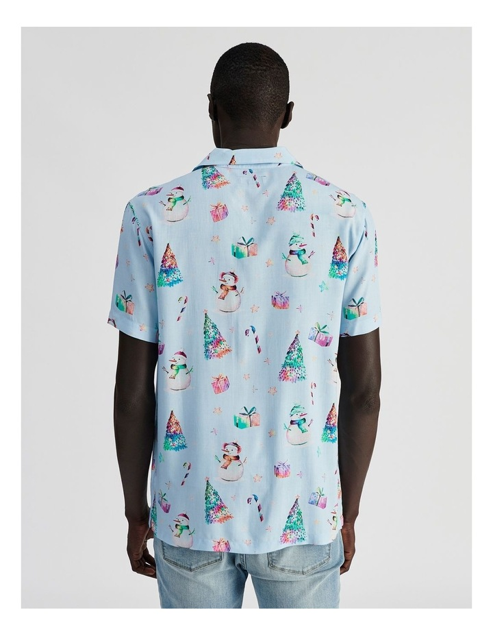 Jack Frost All Over Print Short Sleeve Rayon Shirt image 4