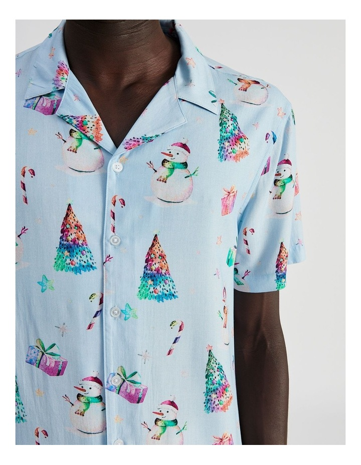 Jack Frost All Over Print Short Sleeve Rayon Shirt image 5