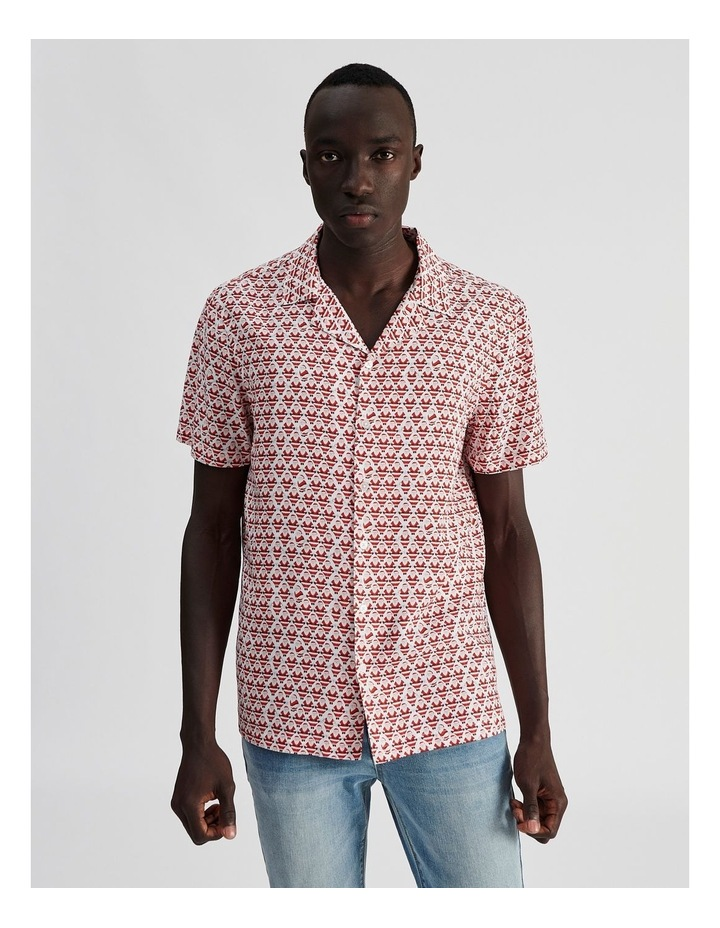 Cool Yule All Over Print Short Sleeved Rayon Shirt image 1