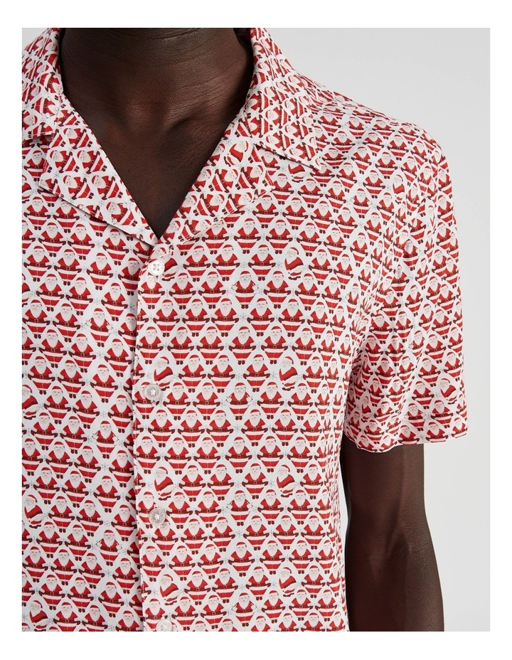 Cool Yule All Over Print Short Sleeved Rayon Shirt image 5