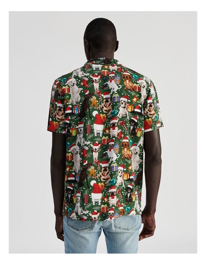 Feliz Navidog All Over Print Short Sleeved Rayon Shirt image 4