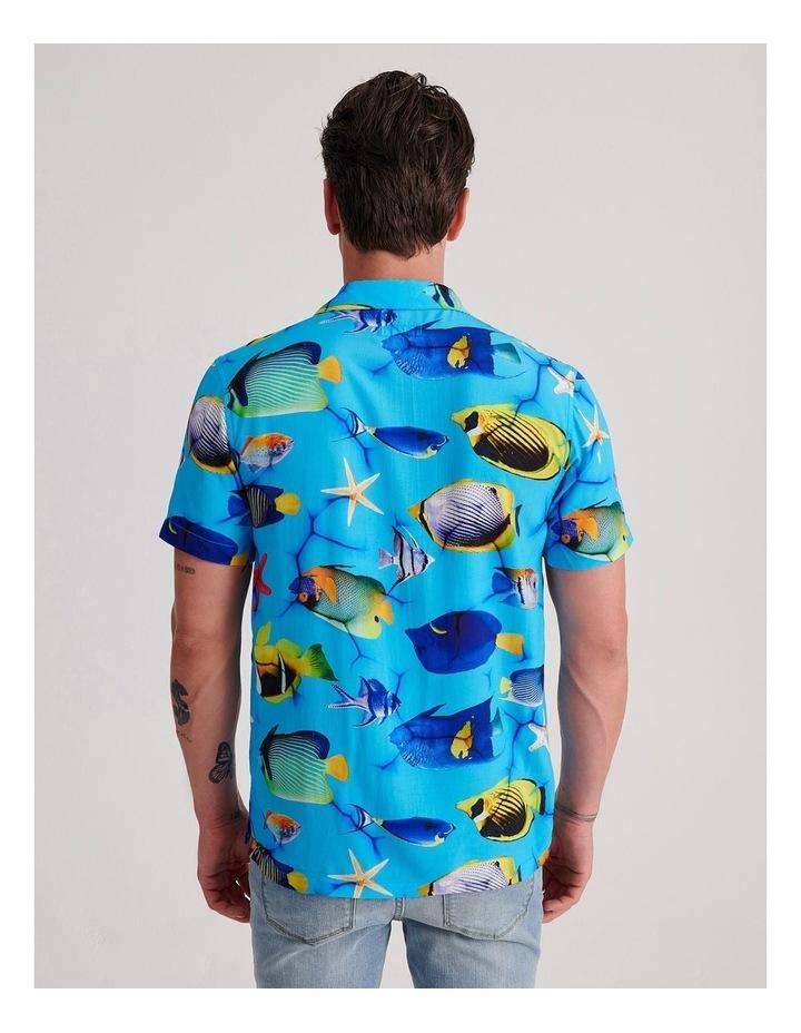 Fish Net Print Short Sleeve Rayon Shirt image 4