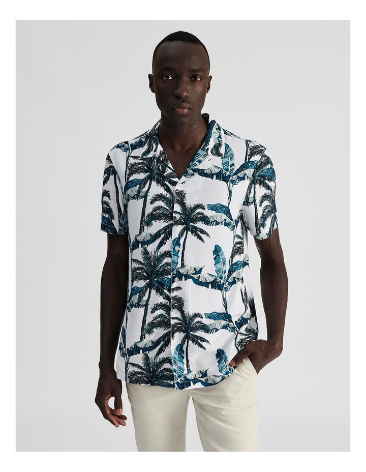 Fern Gully Print Short Sleeve Rayon Shirt image 1