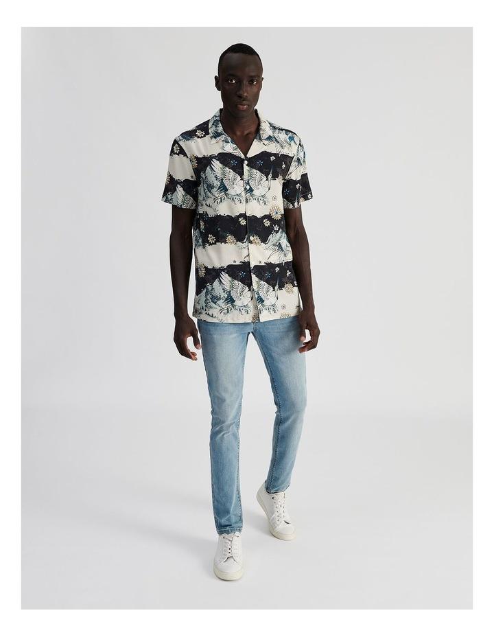 Mountain Crane All Over Print Short Sleeved Rayon Shirt image 2