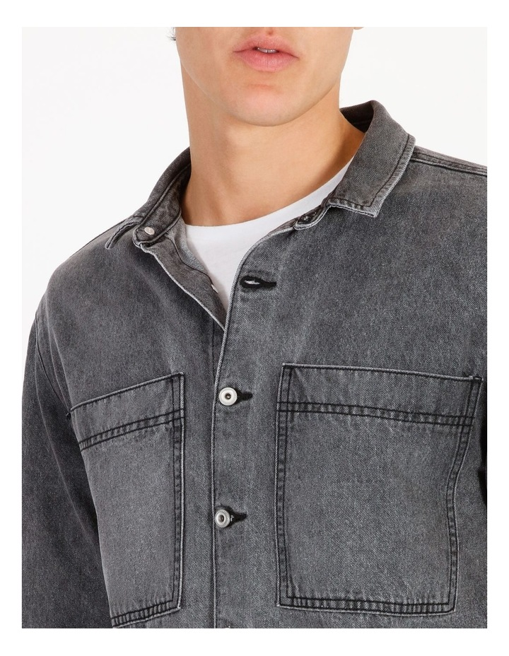 Freedom Denim Long Sleeve Overshirt image 4
