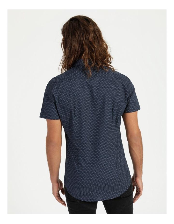 Moe Geo Print Short Sleeve Shirt Navy image 4