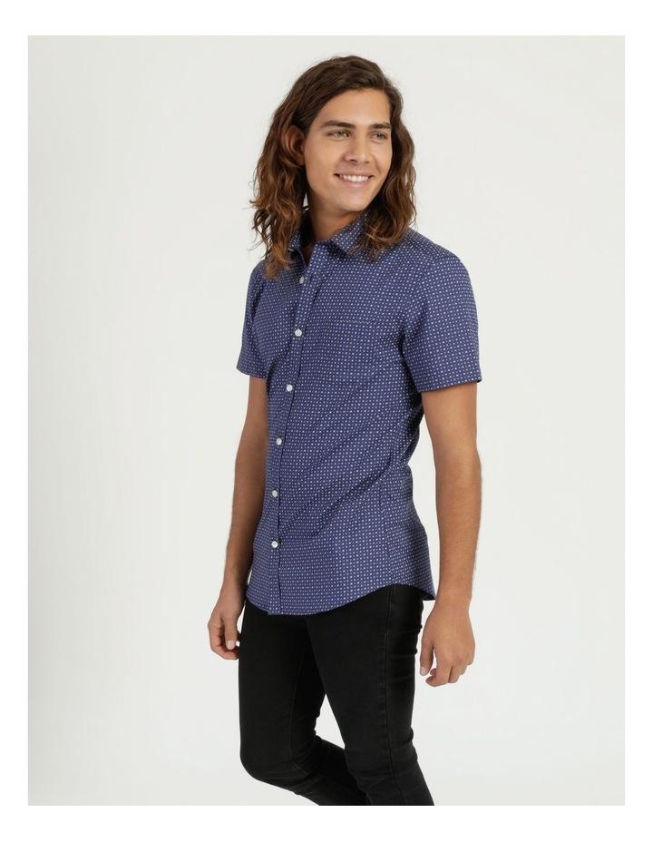 Troy Geo Print Short Sleeve Shirt Blue image 3