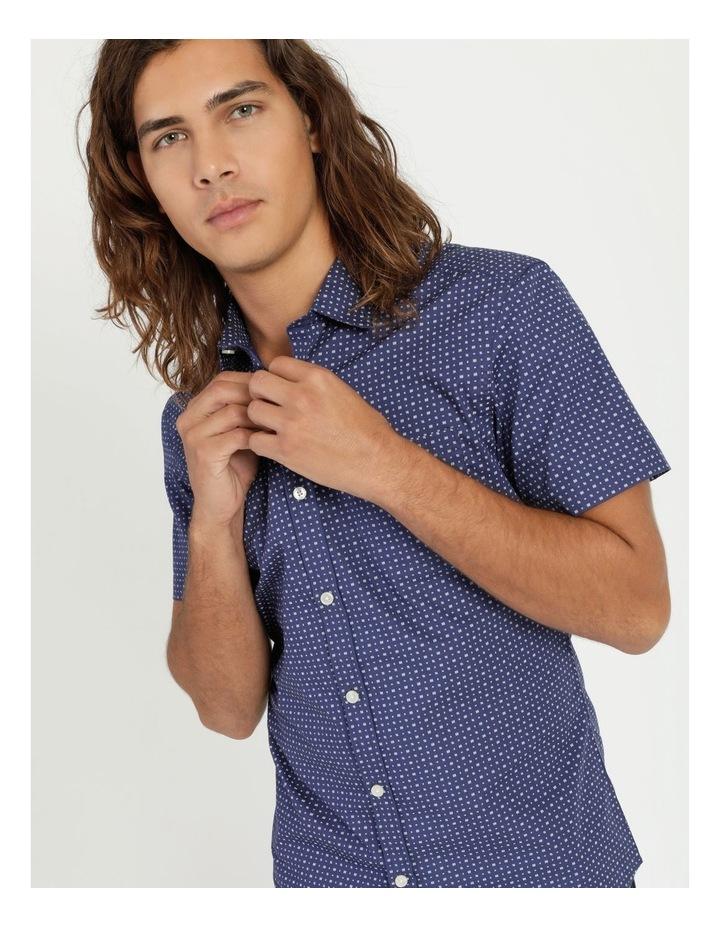 Troy Geo Print Short Sleeve Shirt Blue image 5