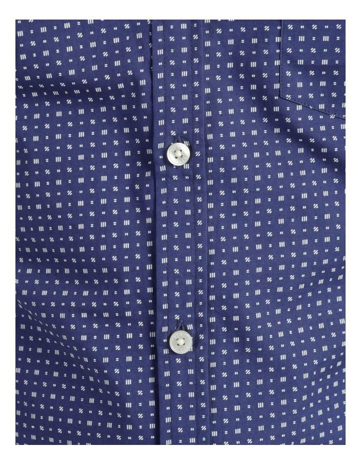 Troy Geo Print Short Sleeve Shirt Blue image 7