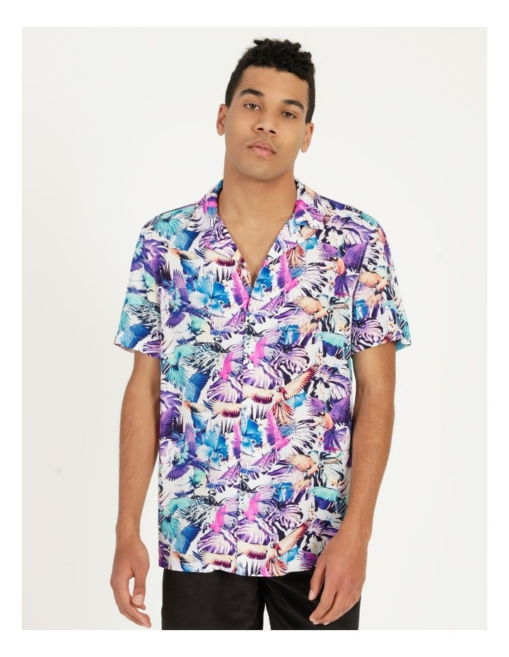Pastel Parrots All Over Print Short Sleeves Rayon Shirt image 1