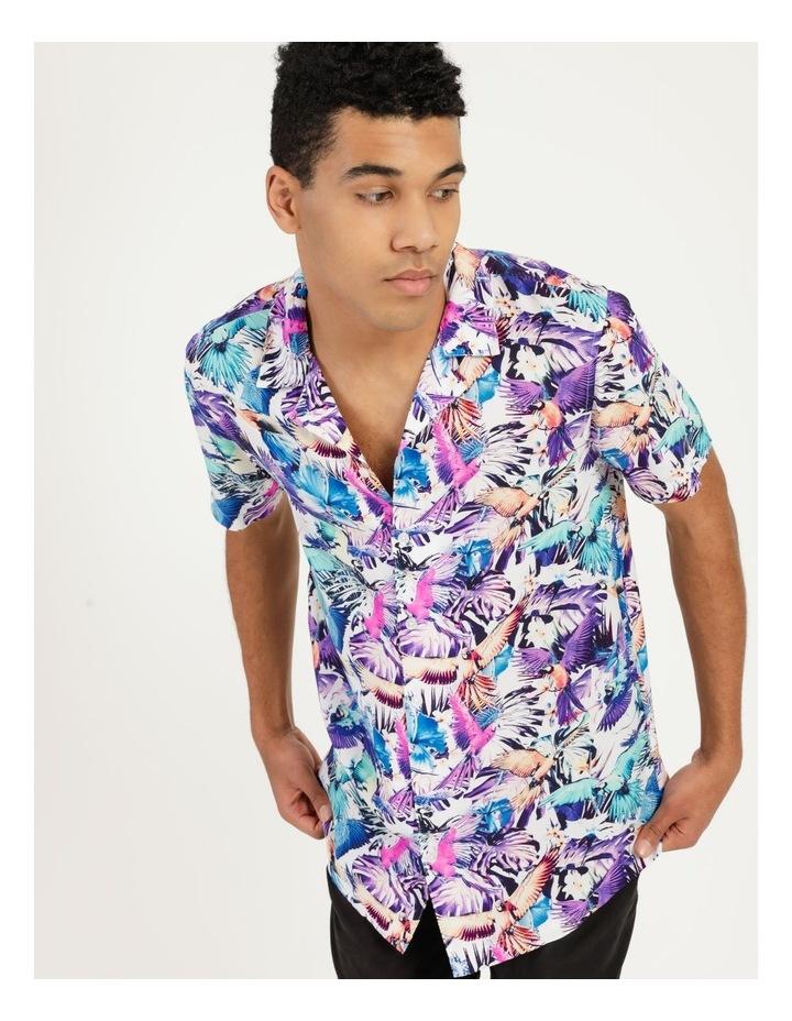 Pastel Parrots All Over Print Short Sleeves Rayon Shirt image 2
