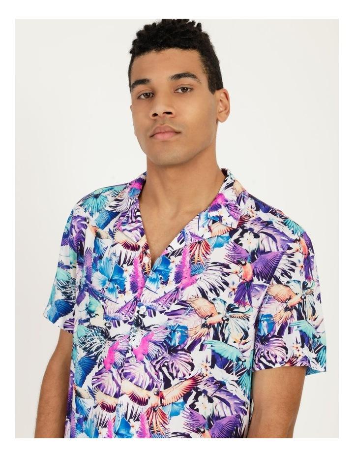 Pastel Parrots All Over Print Short Sleeves Rayon Shirt image 4
