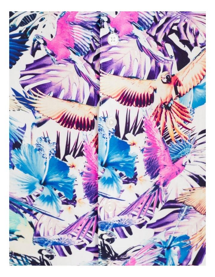 Pastel Parrots All Over Print Short Sleeves Rayon Shirt image 7