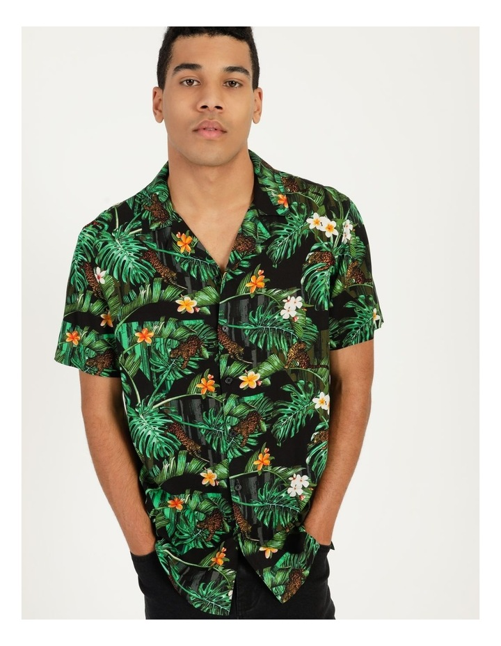 Pine Lime All Over Print Short Sleeves Rayon Shirt image 2