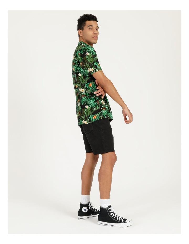 Pine Lime All Over Print Short Sleeves Rayon Shirt image 3
