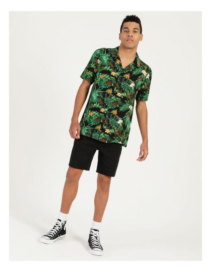 Pine Lime All Over Print Short Sleeves Rayon Shirt image 5