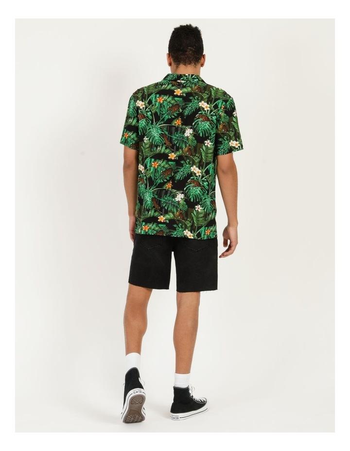 Pine Lime All Over Print Short Sleeves Rayon Shirt image 6