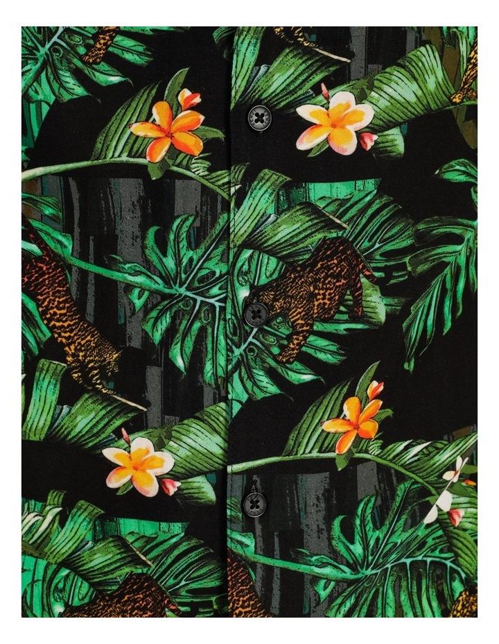 Pine Lime All Over Print Short Sleeves Rayon Shirt image 7