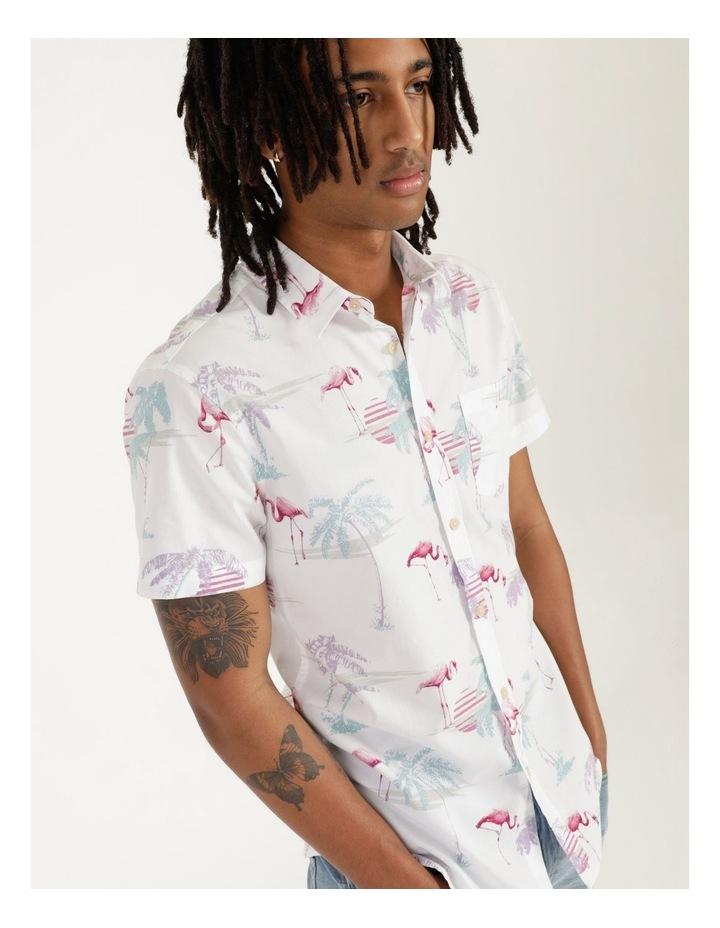 Flamingo Oasis All Over Print Short Sleeve Shirt image 1