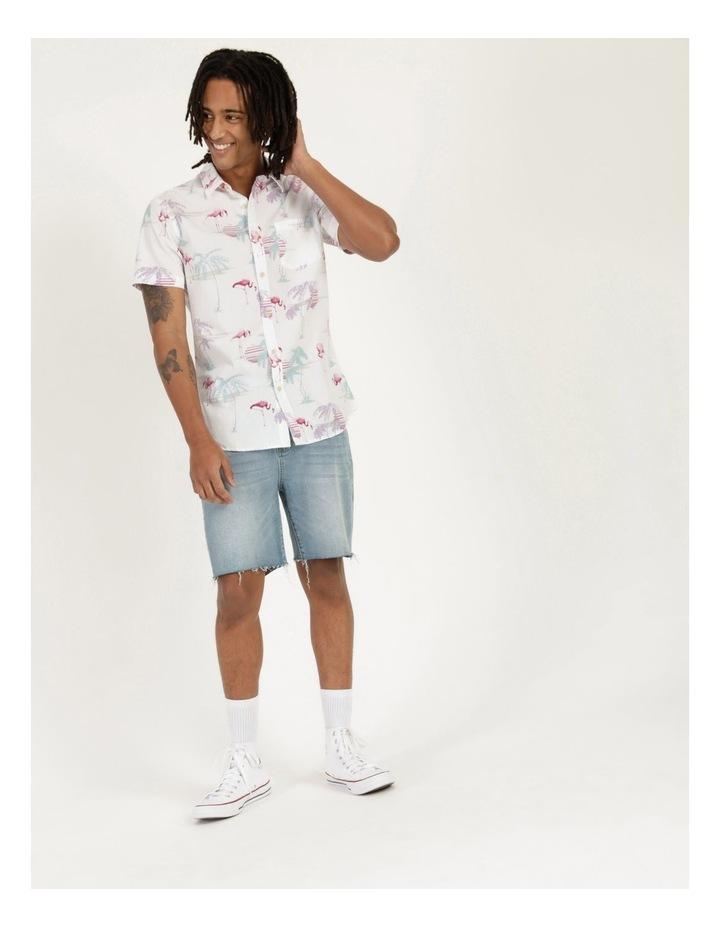 Flamingo Oasis All Over Print Short Sleeve Shirt image 2